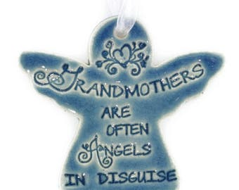 mothers day gift grandma gift Grandmothers Are Often Angels In Disguise ornament gift Christmas gift for grandmother Christmas angel