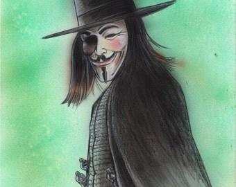 V for Vendetta Illustration