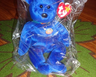 RARE! Retired Ty Beanie Babies Clubby I Bear 1998 1st Edition Sealed MWMT
