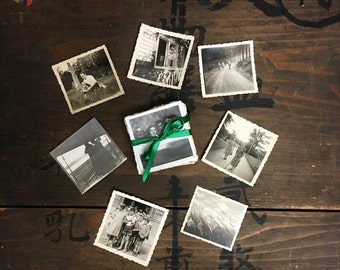 "100 pc - Vintage Mini Photos ""Variety Collection"" Snapshot Lot Old Photo Black & White Photography Paper Ephemera Collectibles - 013117"