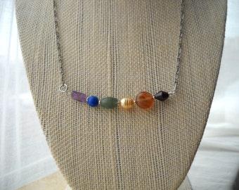 Rainbow necklace: In Harmony | Rainbow gemstone necklace | Pride | Gay pride | Rainbow jewelry | Pride jewelry | LGBT | GLBT | Gay | Lesbian