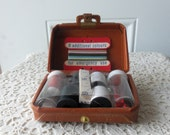 Vintage Sewing Kit - Handmade in Canada, Travel Sewing Kit, Display, Doll Collectors, Luggage Design, Antique Store, Collectible