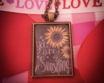 You Are My Sunshine Custom Photo Pendant