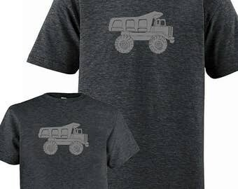 Matching Father Son Shirts, Dump Truck T shirts, Fathers Day Gift, new dad shirt, father daughter, gift for dad, gift for dad from son, kids