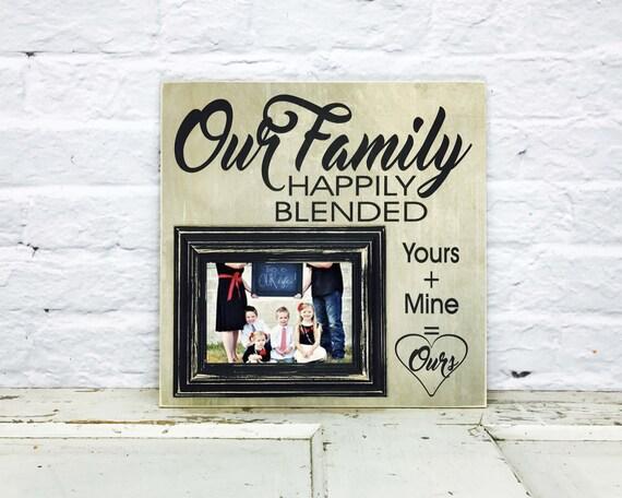 Blended Family Wedding Invitations: Blended Family Wedding Gift Blended Family Sign Step Family