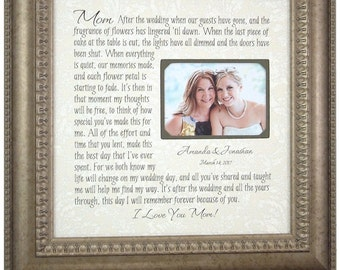 Wedding Quote, Wedding Picture Frame, Mother of the Bride Gift, Photo Frame, Mom Wedding Sign, cake topper, wedding cake toppers, 16 X 16