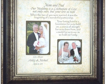 Wedding Gift for Parents, Parents of the Bride Groom, 16x16