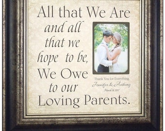 Wedding Gift for Parents, Personalized Parents Wedding Gift, 16 X 16