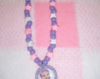 Oona from Bubble Guppies Inspired Bottle Cap Necklace