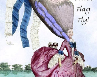 Let Your Freak Flag Fly! Marie Antoinette Funny Postcard. Marie Antoinette.
