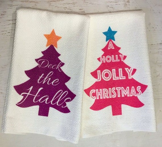 Christmas Tree Microfiber Kitchen Tea Towel
