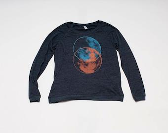 SALE shirt, moon shirt, size L,XL