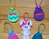 Easter Mini Ornaments , Felt Easter Ornaments, Easter Ornaments
