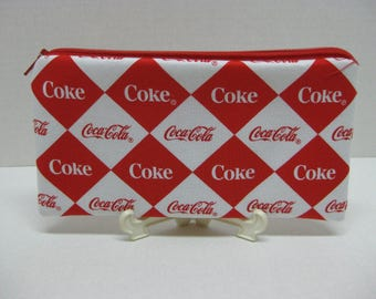 Coke'Cola Soda Zipper Pencil Case Or Cosmetic Case