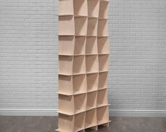 Tall Modern Storage Cube Bookcase