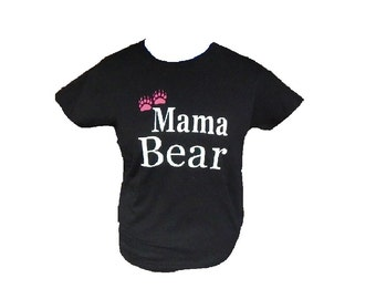 Womens Personalized Mama Bear Gildan Ultra Cotton T-Shirt custom personalization option available