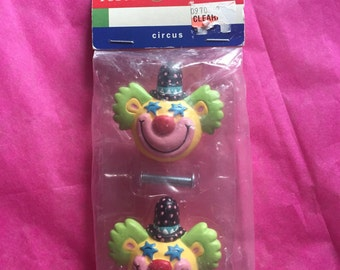 Happy Clown Drawer Knobs / Pulls ~ 90's