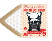 Funny Valentine - Love Is Pawsome - Love, Funny, Humor, Humour, Dating, Marriage, Frenchie, French Bulldog, Dog, Animal, Pet, Photography