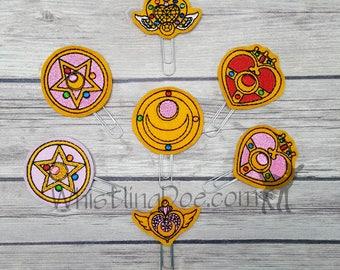 Sailor Moon Lockets Felt Planner Clip Bookmarks