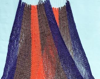 Classic Costa Rican Hammock - Purple, Brown, Orange & White