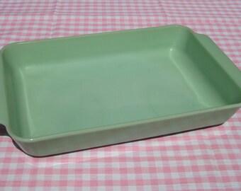 """Jadeite Baking Pan, 9""""x 13"""", Vintage Jadeite Casserole Dish, Jadeite, Green, Collectible Jadeite,  Baking, Fire King"""