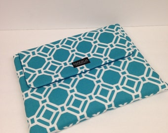 Turquoise Geometric Laptop Cover Sleeve