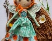 SALE!! Mist Fairy Doll - Fairy - 'Bláithín' - Handmade Cloth Doll