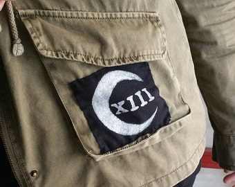 CovenThirteen hand painted moon logo patch