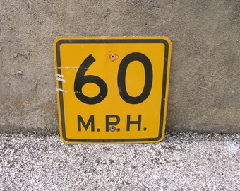 Speed Limit Sign Road Sign 60th birthday gift retirement party Street Sign Kids Room Urban Wall Decor Highway Traffic Collage supply