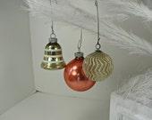 RESERVed 4 LYNN    Vintage MERCURY GLASs ORNAMENT chevron Christmas Tree