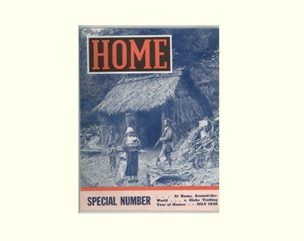 Home Magazine July 1938 Home Designs & Building Projects R. B. Ruby Lumber Oneida NY Pictures of Homes Around the World Vintage Periodical