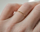Thin Gold Ring, 14kt Gold Filled Ring, Stackable Gold Rings, Stacking Ring, Gold Midi Ring