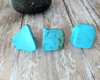 Turquoise Statement Ring, Silver and Turquoise Ring, Geometric Ring, Turquoise Jewelry, Southwestern Ring, Large Turquoise Ring, Adjustable