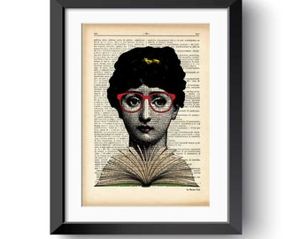 Talk nerdy to me dictionary print-Lina Cavalieri dictionary print-nerdy print-Lina Cavalieri print-gift for book lovers-NATURA PICTA-DP159