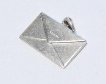 SALE Vintage Sterling Silver Letter Envelope Charm Bracelet Charm
