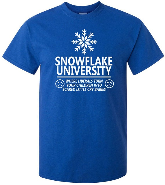 Snowflake university t shirt for University t shirts with your name