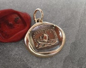 If I Lose You I Am Lost Wax Seal Charm - antique wax seal jewelry pendant Italian love motto guiding star by RQP Studio