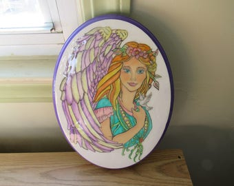 Angel on an Oval