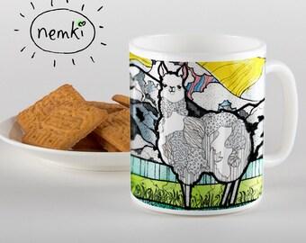 Cute Llama Mug, Llama Coffee Mug, Beautiful Llama Mug, Llama Coffee Cup, Llama Design Mug, Llama Gifts, For Llama Lovers, Llama, Llamas