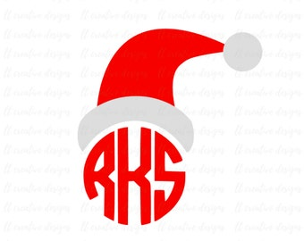 Santa Hat SVG, Christmas SVG, Merry Christmas SVG, Christmas Hat Svg, Cricut Cut Files, Sihouette Cut Files