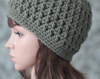 Crochet Pattern - Crochet Hat Patten - Cable Hat Crochet Pattern - Crochet Cables - Instant Download Crochet Pattern - 7 Sizes - PDF 379