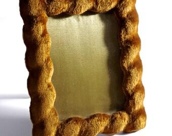 Antique Edwardian Velveteen Photo picture Frame