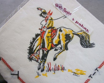 Bronco Riding Cowboy Themed Party 25 Napkins - New Old Inventory