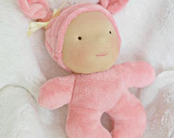 Waldorf Inspired Doll 7 in Mini Baby...  by Jemilynndolls