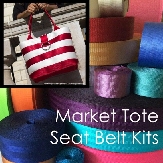 LARGE - Market Tote Seat Belt Webbing Kit - cozy nest design