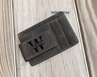Leather Money Clip, Mens Money Clip, Personalized Money Clip with ID, Mens Personalized, Money Clip, Engraved Money Clip, Fathers day gift