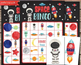 Space Bingo Printable Party Game - Space Birthday Party Game - Space Party Game - Outer Space Bingo - Printable PDF - Instant Download