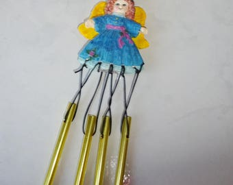 Vintage Angel Wind Chimes Small Resin Angel Wind Chime NCE New Creative Enterprises