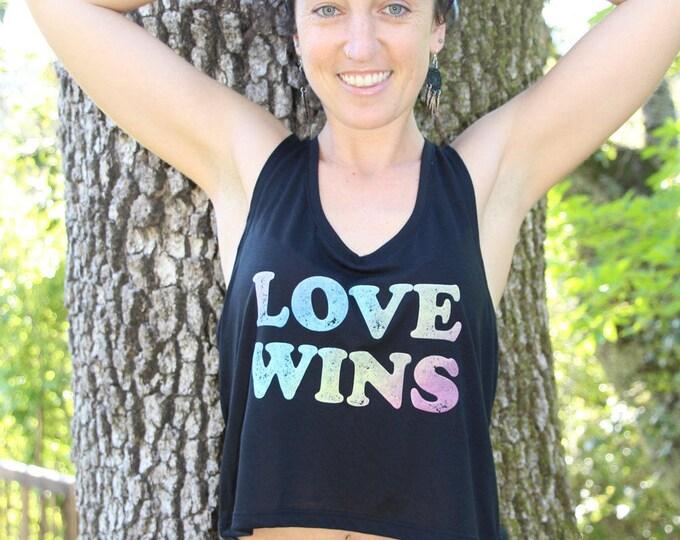 LOVE WINS Flowy Crop Tank