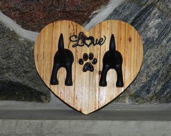 Rustic leash holder, Rustic dog leash holder, Rustic dog leash hook, Rustic dog leash hanger, Rustic leash hanger, Rustic leash hook, Double